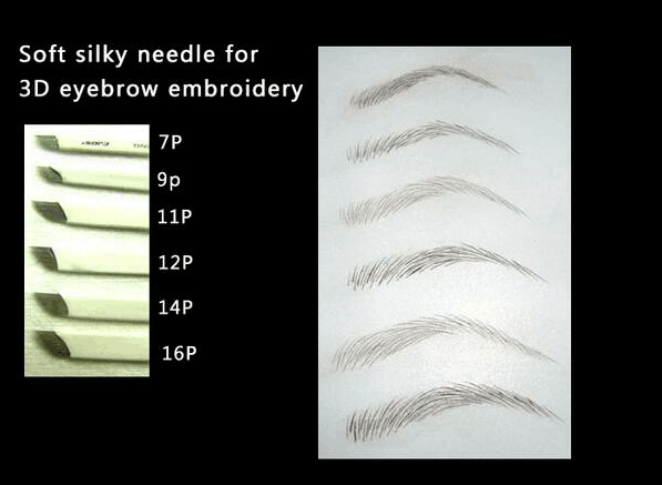 Gamma rays sterilized disposable microblading needles