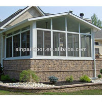 White Color Aluminum Prefabricated Glass House