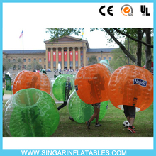 Hot Sale!!!inflatable giant outdoor play ball, bubble soccer tpu,crazy inflatable belly bump ball
