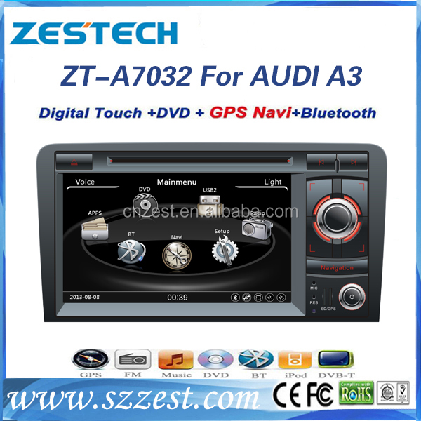 car dvd gps navigation system for audi a3 with radio audio phonebook bluetooth USB