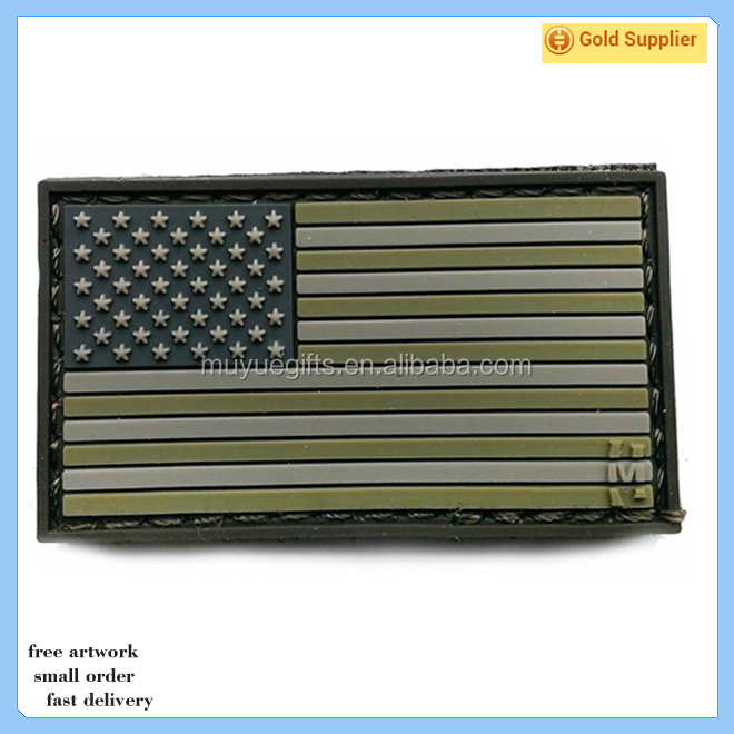China Supplier Wholesale Custom 3d US flag PVC Patch
