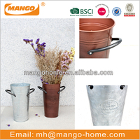 Home Decoration Galvanized Steel Flower Pot