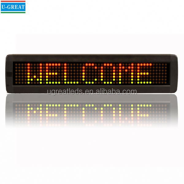 waterproof single color led moving sign display/outdoor led moving message display sign