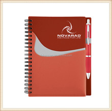 A5 customized PP cover spiral note book with pen for kids