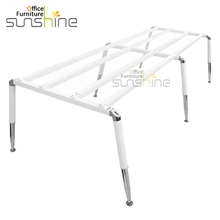 Elegant office table base stainless metal table frame for computer table