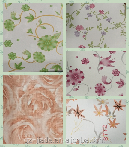 PVC Adhesive Foil Fashion Designs Marble, flower, woodgrain, solid colors