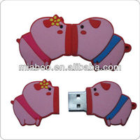 Popular! Silicone/Pvc Usb flash For New Year/Happy lovely Pig Style usb key