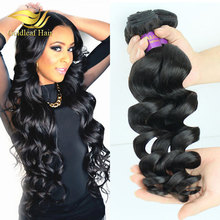 wholesale new popular loose curl human hair weaving,unprocessed indian hair remy loose curl bundles