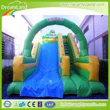 Kids Outdoor Inflatable Double Lane Slip Slide,Inflatable Dry Slide Wholesale
