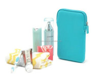 Protective Neoprene Zipper Closure Travel Cosmetic pouch
