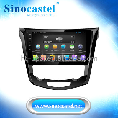 Android 4.4.4 In dash video & multimedia Player with GPS for X-trail 2014, 10.1 inch multi-point touchscreen, 2-way APP control