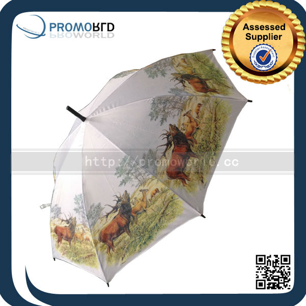 Wholesale Cheap Custom Sublimation Animal Photo Print Umbrella