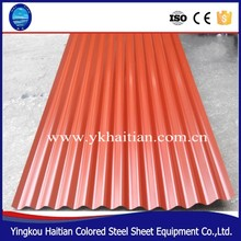 Coated metal roof tile Iron metal roof Sheet Color Coated Corrugated Steel Roofing Tile