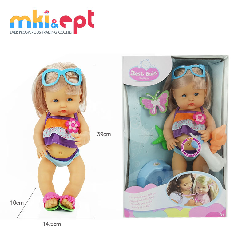 "16"" newborn doll eats pees crying plastic doll toy for wholesale"
