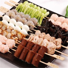 Most Popular flat Yakituri BBQ skewer rack bamboo skewer Turkish kebab skewer with custom logo