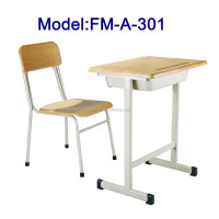 School wood children table and chairs set