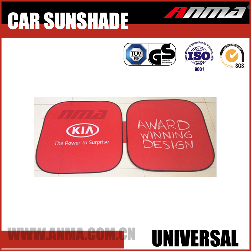 foldable red front car sunshade AM072-0940