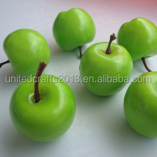 Wholesale imitation artificial fruit green apple for home decorative