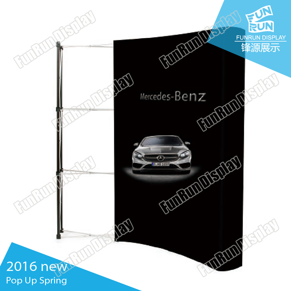 Pop up wall display Spring used in Trade show