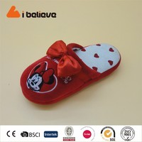 Mickey Mouse pattern red foam baby girl shoes