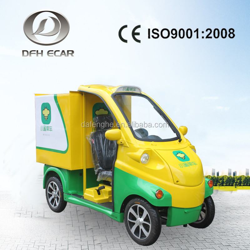 electric cargo van with cargo bed CE approved