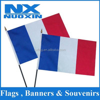 polyester 4''x6'' red white blue car flag