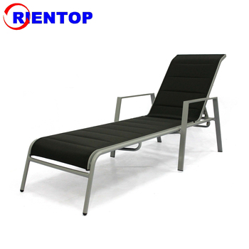 Popular modern design with mesh sling fabric outdoo aluminum sun lounger