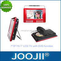Best Gift For Aging Parents 7-10 Inch Mini Pocket TV With DVD USB TF Card, Support FM Radio, MP3 CD Copy