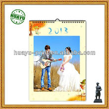 2014 chinese monthly calendar /wedding picture wall calendar printing