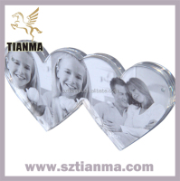 Acrylic Sublimation Double Heart Photo Frame Factory