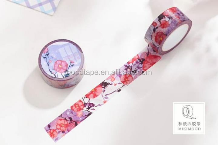 H Series Custom Design Washy Tape DIY Sticky Adhesive Sticker Decorative Offer Printing Design Printing Washy Tape OEM