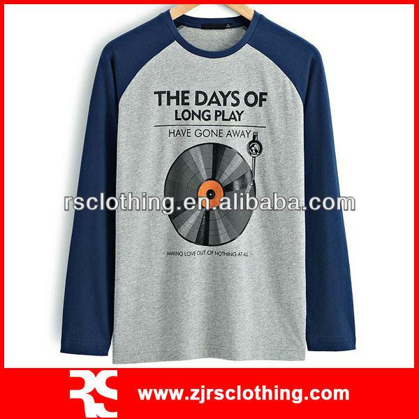 Mens Long Sleeve T Shirt Custom Printed Design T Shirt