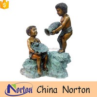 garden nude bronze statues of children NTBH-C871S