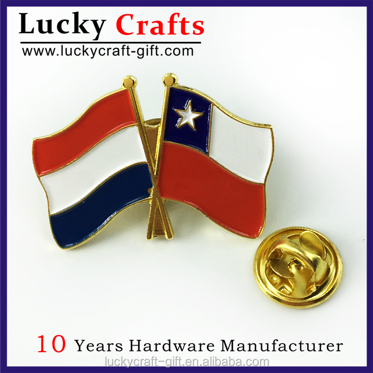Custom made metal die cast flag pin badges marker