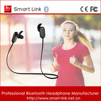 Girls sports bluetooth earphone with silicone rubber earphone hooks