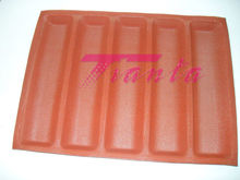 Silicone Sub sandwich roll pan bread baking form with fiberglass