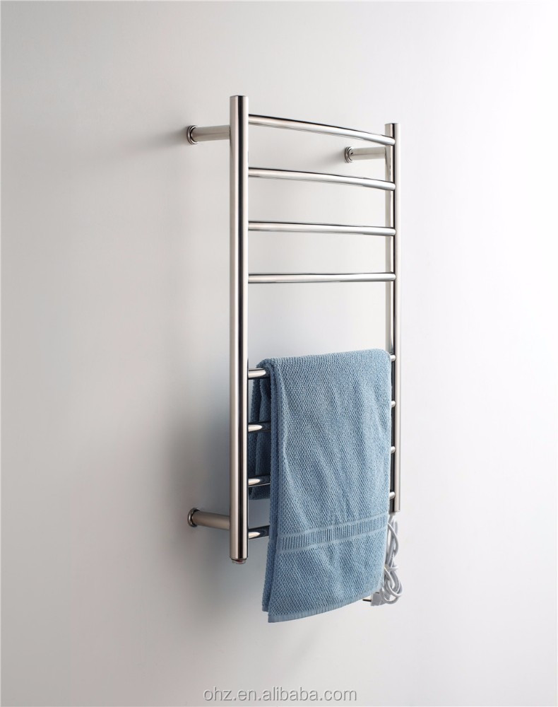 Luxury high quality stainless steel wall mounted heated for Luxury bathroom towel racks
