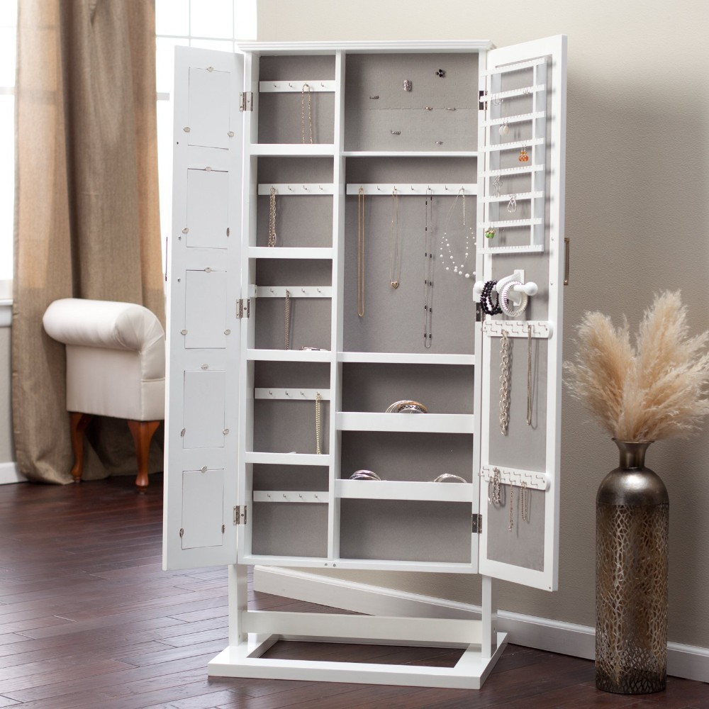 Floor Standing Cheval Mirror Jewelry Armoire Plans ...