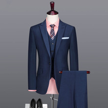 2017 latest Design service POLO neck wool summer blank blue long sleeve man suit