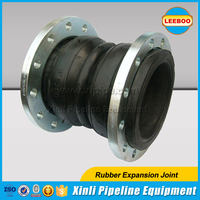 Double ball flexible rubber joint for pipeline