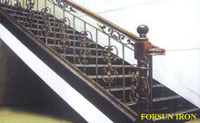 antique iron stair railings with handrail