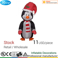 4 foot Inflatable Christmas Cute Standing Penguin - Yard Blow Up Mascot Decoration