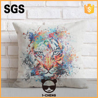 2015 printed appliques cushion for garden decorative