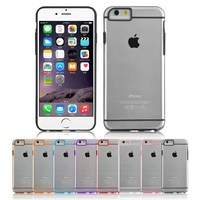 Clear Hard Back Silicone TPU Bumper Cover Case For iPhone 6, for iphone cases 6 tpu