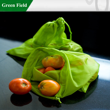 Green Field Wholesale Reusable Produce Bag for Fruit
