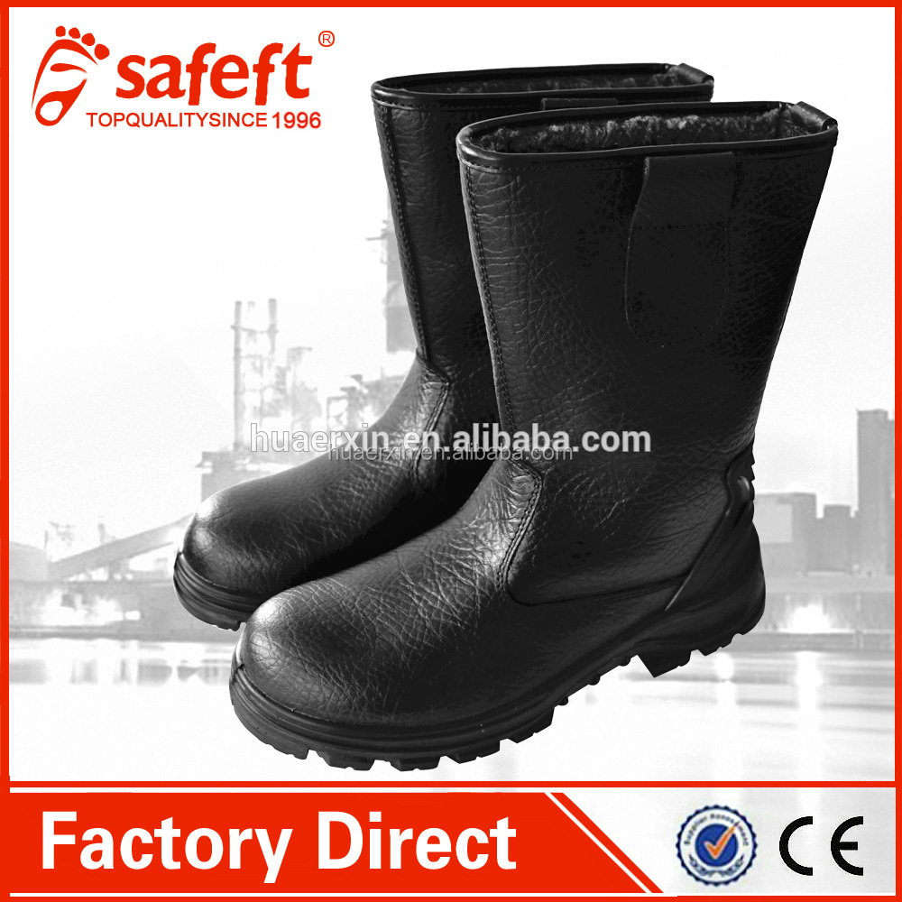 Hard work Knee snow boots fur safety work rigger winter boots