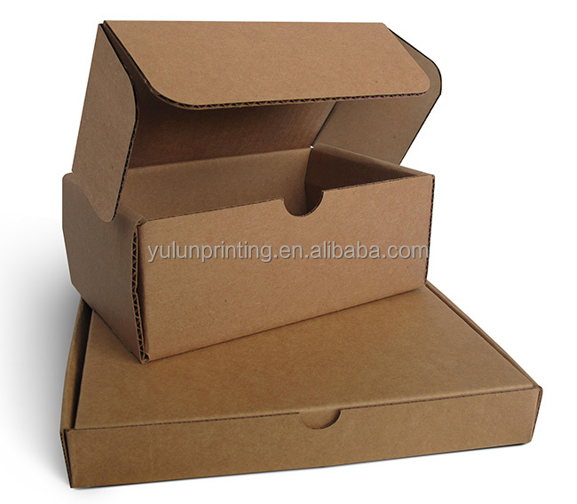 Logistics Packaging Corrugated Carton box with logo printing Flat shipping foldable brown kraft corrugated paper box with logo