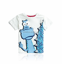 T-Shirts OEM Service custom cute dragon cartoon pattern t shirt for children