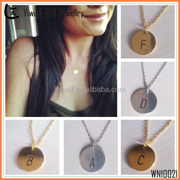 2015 Gold Initial Necklace , DIY Letter Necklace , Personalized Necklace