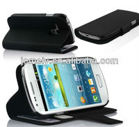 stand wallet leather case for Samsung Galaxy s3 mini i8190